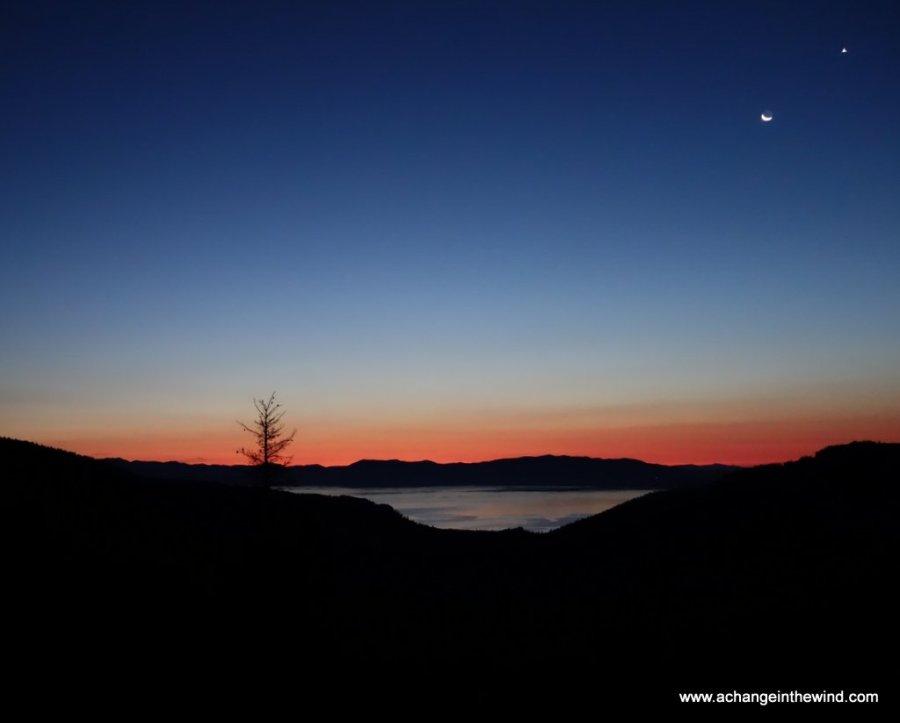 dawn over Lake Tahoe